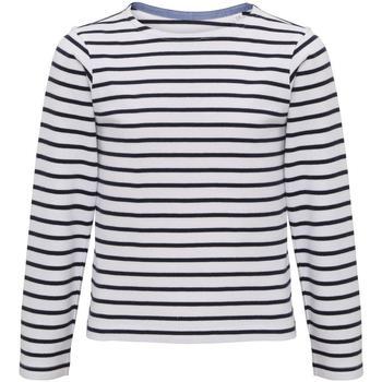 Vêtements Enfant T-shirts manches longues Asquith & Fox Mariniere Blanc / bleu marine