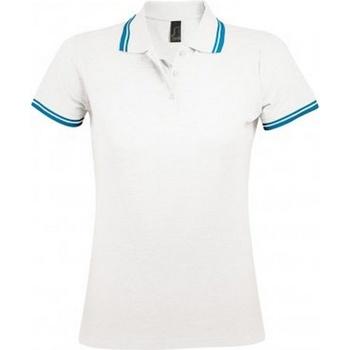 Vêtements Femme Polos manches courtes Sols Pasadena Blanc/bleu
