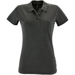 Vêtements Femme Polos manches courtes Sols 11347 Gris foncé chiné