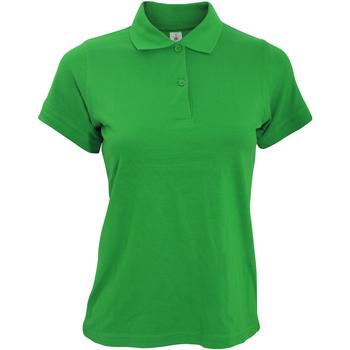 Vêtements Femme Polos manches courtes B And C PW455 Vert tendre