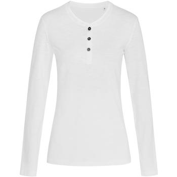 Vêtements Femme T-shirts manches longues Stedman Stars Slub Blanc
