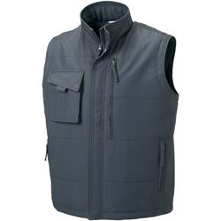 Vêtements Homme Vestes Russell Gilet sans manches de travail BC1051 Gris