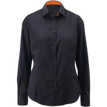 Vêtements Femme Chemises / Chemisiers Alexandra AX060 Noir/Orange