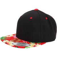 Accessoires textile Casquettes Yupoong  Noir/Rouge floral