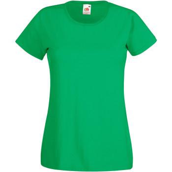 Vêtements Femme T-shirts manches courtes Fruit Of The Loom 61372 Emeraude
