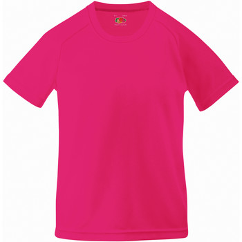 Vêtements Enfant T-shirts manches courtes Fruit Of The Loom Performance Fuchsia