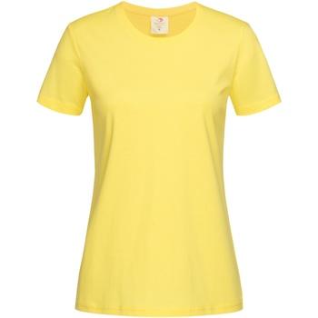 Vêtements Femme T-shirts manches courtes Stedman Classics Jaune