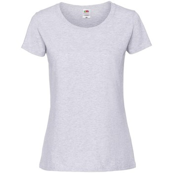 Vêtements Femme T-shirts manches courtes Fruit Of The Loom Premium Gris pâle