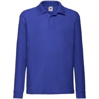 Vêtements Garçon Chemises manches longues Fruit Of The Loom 63201 Bleu royal