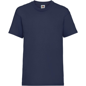 Vêtements Enfant T-shirts manches courtes Fruit Of The Loom 61033 Bleu marine