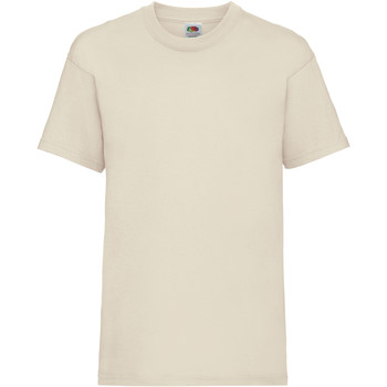 Vêtements Enfant T-shirts manches courtes Fruit Of The Loom 61033 Naturel