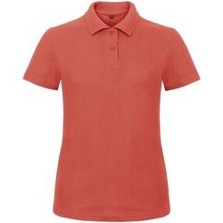 Vêtements Femme Polos manches courtes B And C ID.001 Corail