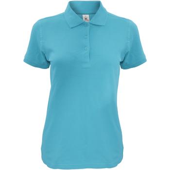 Vêtements Femme Polos manches courtes B And C Safran Bleu ciel
