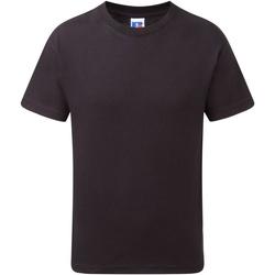 Vêtements Garçon T-shirts manches courtes Jerzees Schoolgear J155B Noir