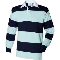 Vêtements Homme Polos manches longues Front Row Rugby Bleu clair/Bleu marine