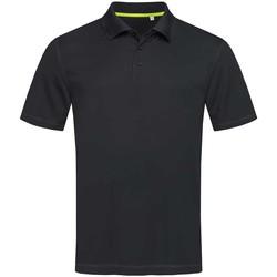 Vêtements Homme Polos manches courtes Stedman Mesh Noir Uni