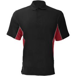 Vêtements Homme Polos manches courtes Gamegear Pique Noir/Rouge/Blanc