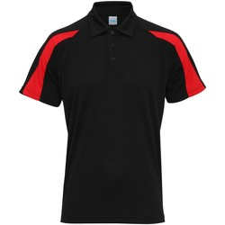 Vêtements Homme Polos manches courtes Awdis Contrast Noir/Rouge feu