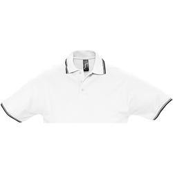 Vêtements Homme Polos manches courtes Sols Pique Blanc/Bleu marine