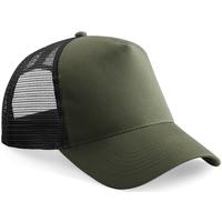 Accessoires textile Casquettes Beechfield Trucker Vert kaki/noir