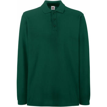 Vêtements Homme Polos manches longues Fruit Of The Loom 63310 Vert forêt