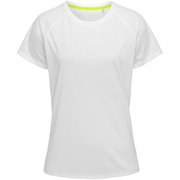 Vêtements Homme T-shirts manches courtes Stedman Raglan Blanc