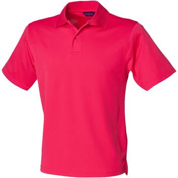 Vêtements Homme Polos manches courtes Henbury HB475 Rose vif