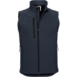Vêtements Homme Vestes Russell Veste sans manches en Softshell BC1513 Bleu marine