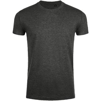 Vêtements Homme T-shirts manches courtes Sols Slim Fit Gris foncé marne