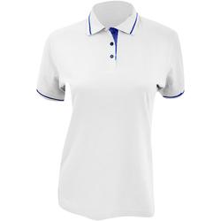 Vêtements Femme Polos manches courtes Kustom Kit Mellion Blanc/Bleu marine