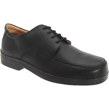 Chaussures Homme Derbies Roamers Wide Fit Noir