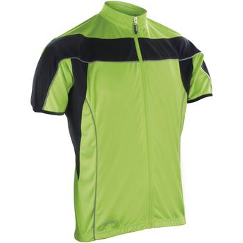 Vêtements Homme Polaires Spiro Performance Noir/Vert citron fluo