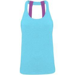 Vêtements Femme Débardeurs / T-shirts sans manche Tridri Double Strap Turquoise chiné