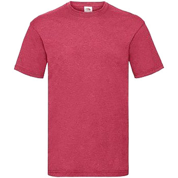 Vêtements Homme T-shirts manches courtes Fruit Of The Loom Valueweight Rouge chiné