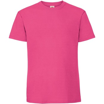Vêtements Homme T-shirts manches courtes Fruit Of The Loom Premium Fuchsia