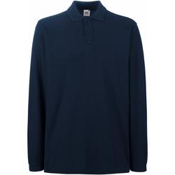 Vêtements Homme Polos manches longues Fruit Of The Loom Premium Bleu marine profond