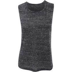 Vêtements Femme Débardeurs / T-shirts sans manche Bella + Canvas Flowy Noir marbré