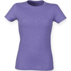 Vêtements Femme Musse & Cloud Skinni Fit Stretch Violet chiné