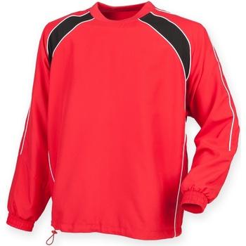Vêtements Homme Vestes de survêtement Finden & Hales Drill Rouge/Noir/Blanc