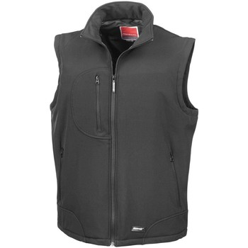 Vêtements Homme Gilets / Cardigans Result Softshell Noir/Noir