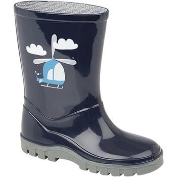 Chaussures Garçon Bottes de pluie Stormwells Helicopter Bleu marine/Gris