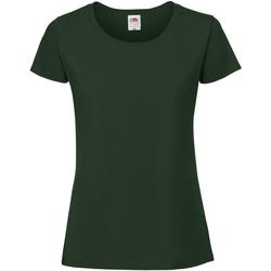 Vêtements Femme T-shirts manches courtes Fruit Of The Loom Premium Vert bouteille