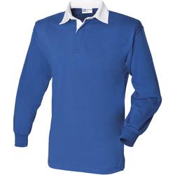 Vêtements Homme Polos manches longues Front Row Rugby Bleu roi/Blanc