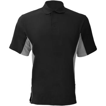 Vêtements Homme Polos manches courtes Gamegear KK475 Noir/Gris/Blanc