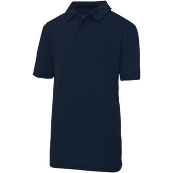 Vêtements Enfant Polos manches courtes Just Cool Plain Bleu marine