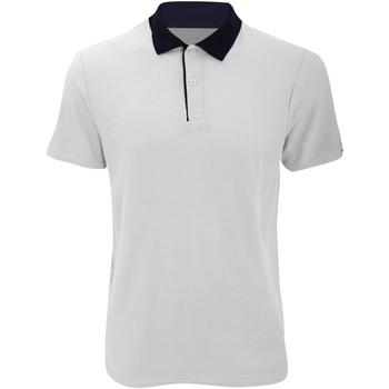 Vêtements Homme Polos manches courtes Anvil Pique Blanc/Bleu marine