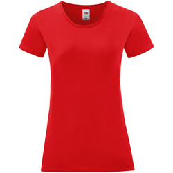 Vêtements Femme T-shirts manches courtes Fruit Of The Loom Iconic Rouge