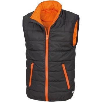 Vêtements Enfant Gilets / Cardigans Result R234JY Noir/Orange