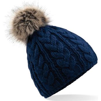Accessoires textile Bonnets Beechfield Pom Pom Bleu marine