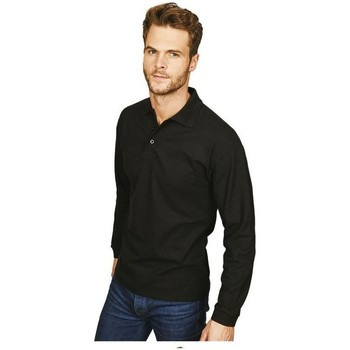 Vêtements Homme Polos manches longues Casual Classics Classic Noir